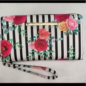 LAST ONE -NEW BETSEY JOHNSON floral wallet